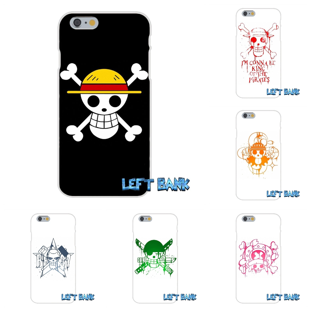 For Samsung Galaxy S3 S4 S5 MINI S6 S7 edge S8 Plus Note 2 3 4 5 One Piece jolly roger Silicon Soft Phone Case Cover