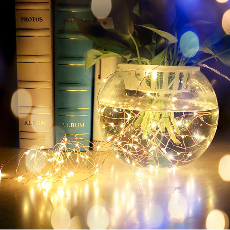 Button Cell Battery Powered Light String Silver Copper Wire Night - Мерекелік жарықтандыру - фото 5
