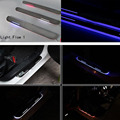 For Infiniti FX35/FX37/FX30/FX50/G25/G37 light LED Moving front door scuff sticker Sill Plate pedal protector sticker styling Wh