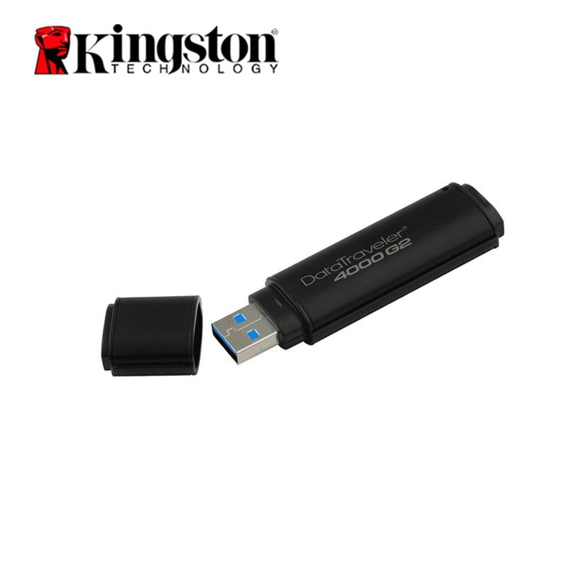 Kingston Usb 3.0 lecteur Flash 64gb 32gb 16gb 8gb 4gb clé Usb matériel de cryptage étanche métal stylo lecteur Memoria U Stick