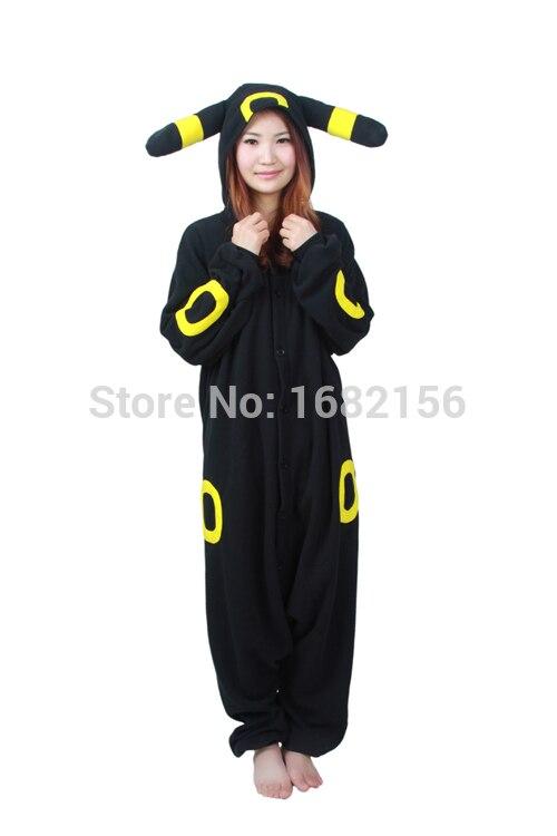 ③Anime Pokemon Cosplay traje negro Pikachu umbreon onesie unisex ...