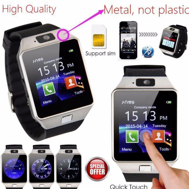 Bluetooth Smart Watch Phone Camera SIM/TF Slot For Android IOS Samsung LG