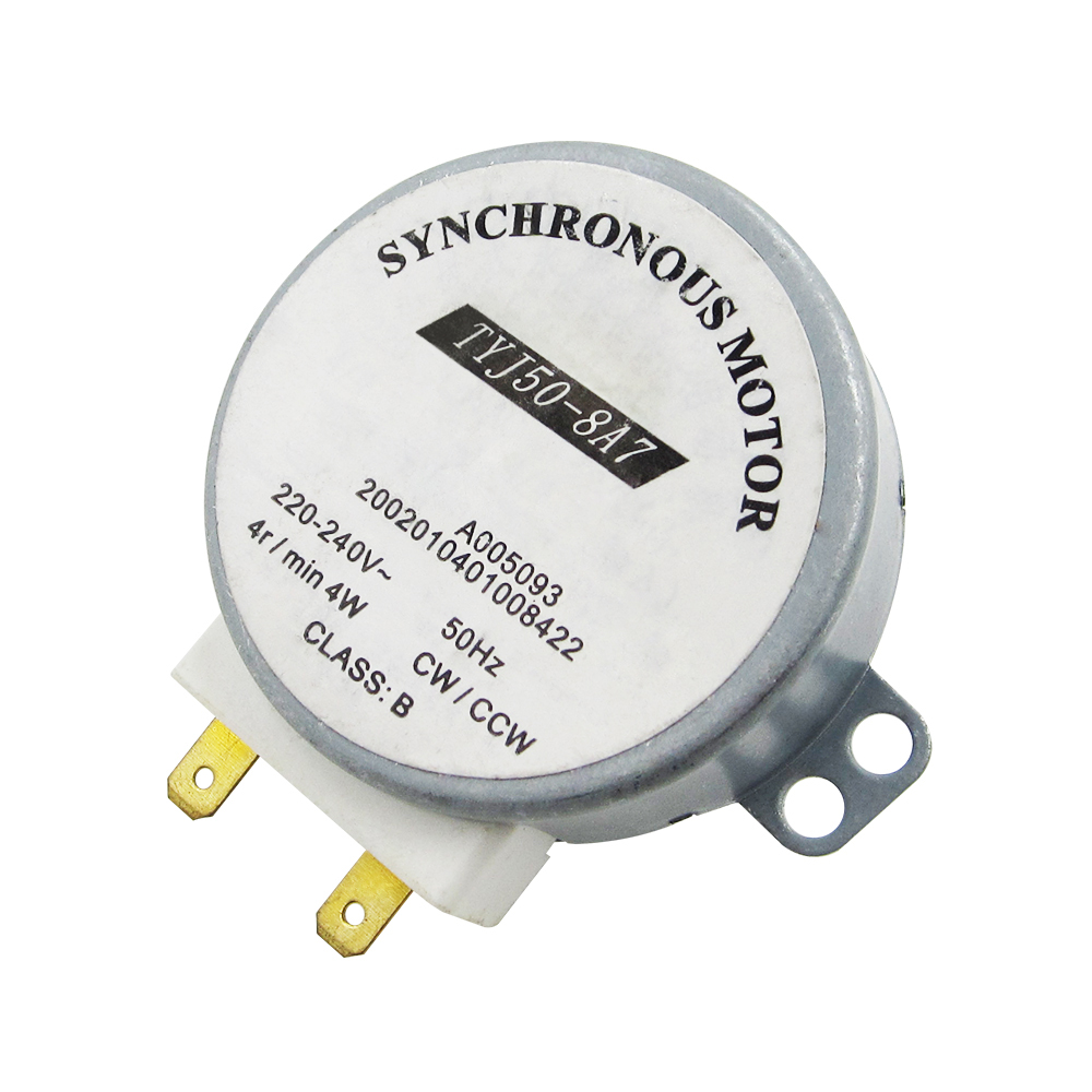 1PCS New AC 220V-240V 50Hz CW/CCW Microwave Turntable Turn Table Synchronous Motor TYJ50-8A7 D Shaft 4 RPM