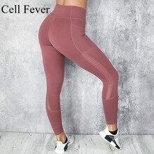 Pocket Solid Yoga Pants High Waist Mesh Sport Leggings Fitness Women Yoga Leggings Training Running Pants Workout Sportswear bintuoshi solid yoga pants with pocket high waist sport leggings fitness women yoga leggings training running pants sportswear