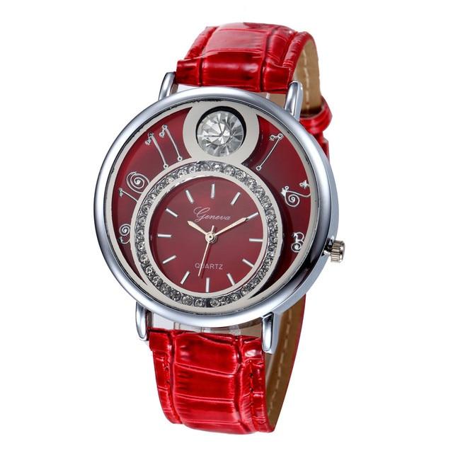 Geneva Women Rhinestone Lady Dress Quartz Wrist Watch Luxury Bracelet Women Watches Digital Relogio Feminino Montre Femme 2018