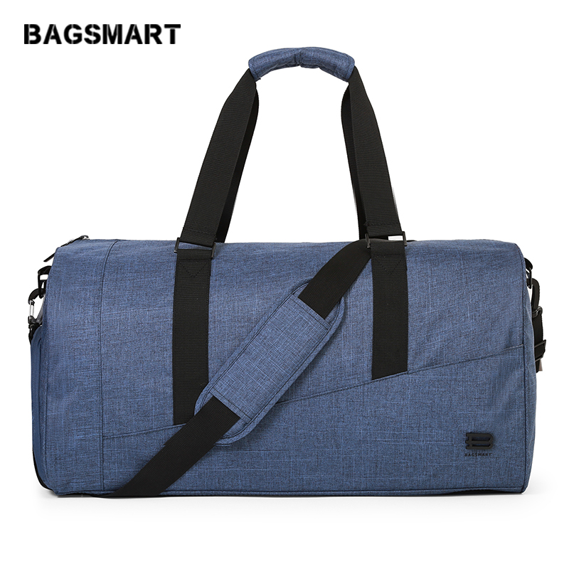 BAGSMART Travel Bag Large Capacity Carry On Luggage Bag Nylon Travel Duffle Shoe Pocket Overnight Weekend Bags Travel Tote