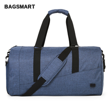 все цены на BAGSMART Men Travel Bag Large Capacity Carry on Luggage Bag Nylon Travel Duffle Shoe Pocket Overnight Weekend Bags Travel Tote  онлайн