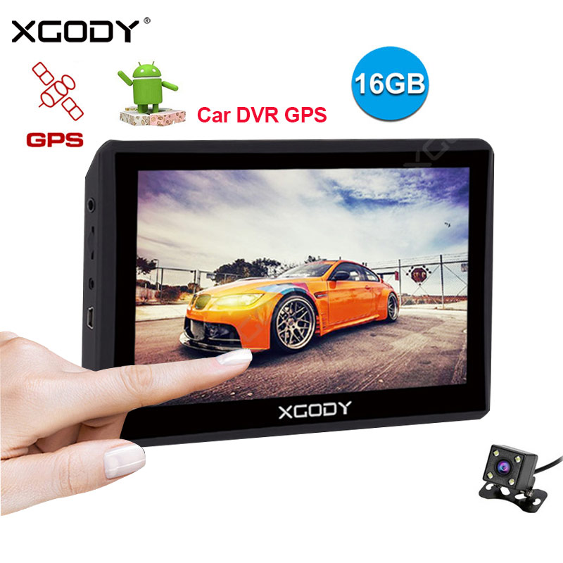 Xgody Dash-Camera Navigation Android Car Gps With 512M 16GB Dual-Lens Dvr Dvr