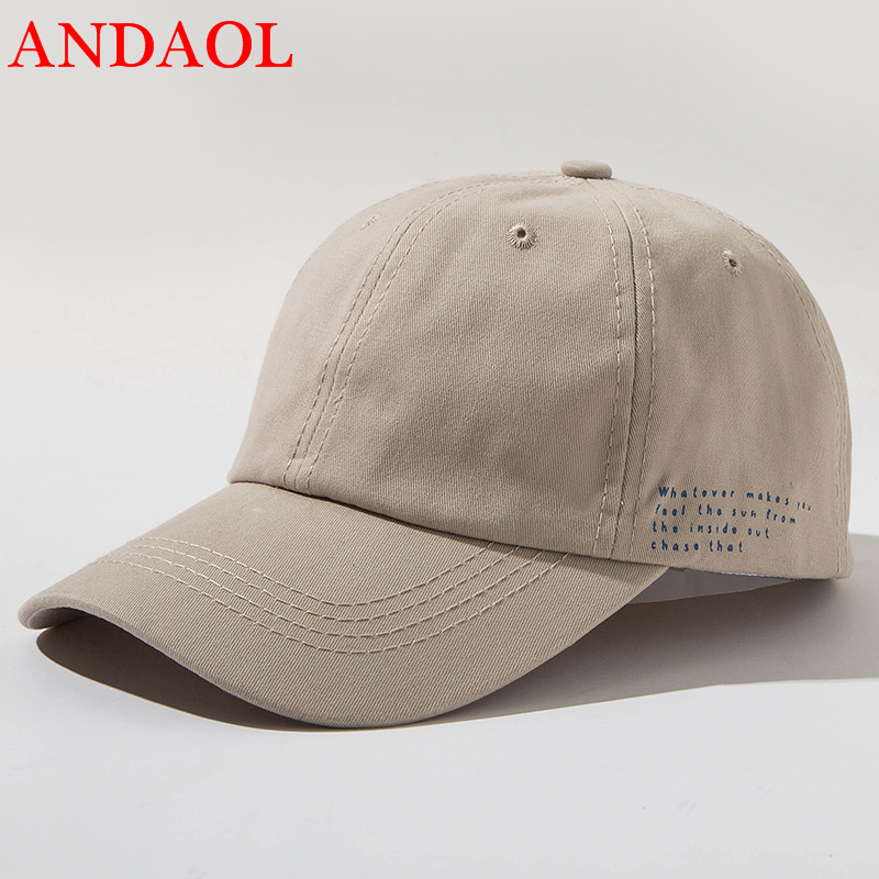 ANDAOL Unisex Casual Caps Summer Solid AdjustableBaseball Cap Feminino Breathable Outdoor Marvel Campus Snapback Trainers Hat