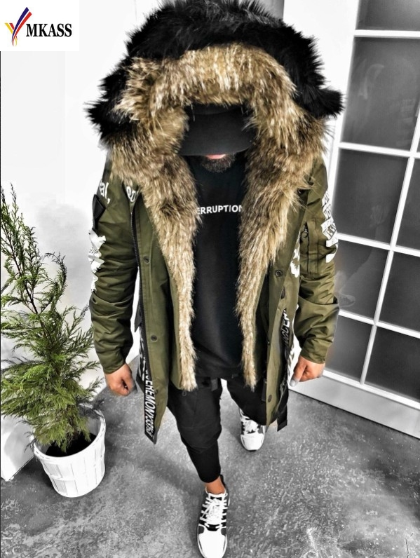 New Sale Brand Winter Jacket Men 2019 New Parka Coat Men Overseas Fur Hood Male Jacket Cold Casual Parks S-3XL title=