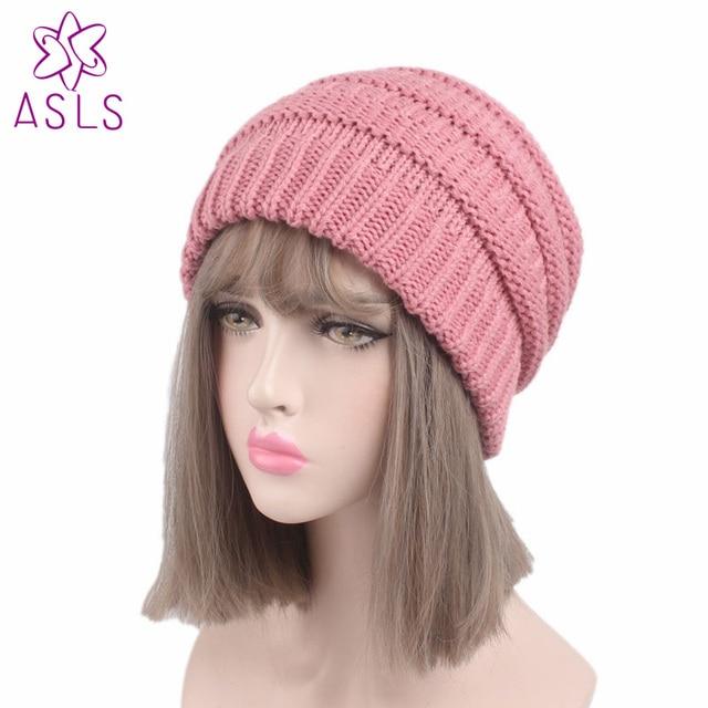 2017 das Mulheres de inverno popular gorros chapéus meninas chapéu senhora  Cauda Suave Estiramento Knit Cabo 547c6e113c6
