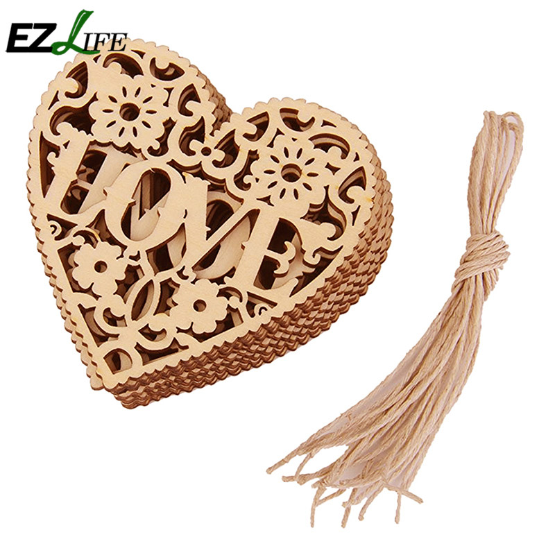 Popular decorative wooden hearts buy cheap decorative for Wooden hearts for crafts