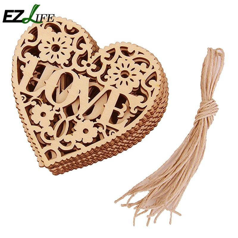 Wooden Hearts Craft Supplies