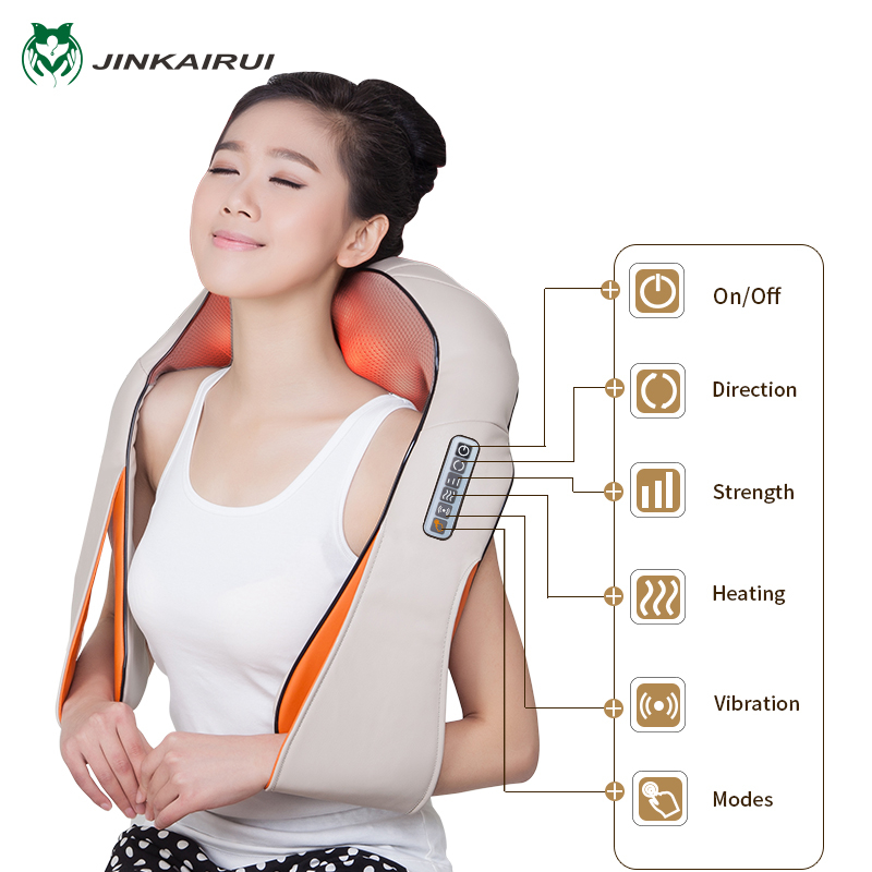 Multifunction U Shape Electrical Shiatsu Back Neck Shoulder Massager Body Infrared Kneading Massager Home Office Cars