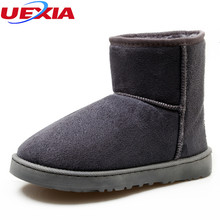 UEXIA Unisex Fashion Winter Suede Snow Ankle Boots Women Shoes Female Warm Winter Shoes Woman Round Toe Botas Mujer Plus Size 45