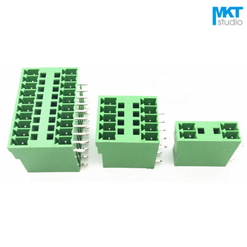 100Pcs 12P 3.5mm Pitch Double-Deck Right Angle Pin Male Pluggable PCB Electrical Screw Terminal Block 2x6P