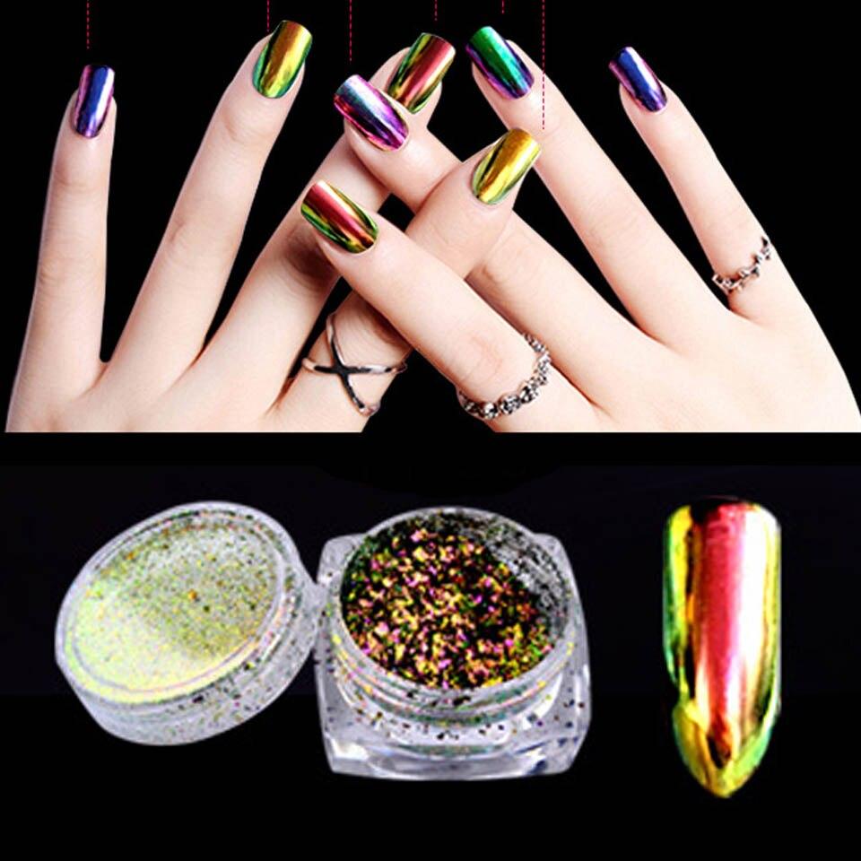Nieuwe 02g Nail Art Glitter Chameleon Vlokken Nail Poeder Bling