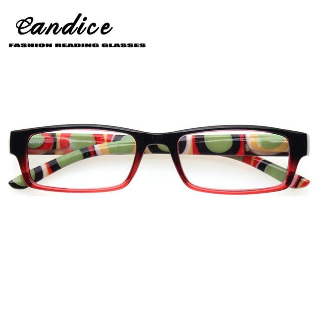 96461a570e8 Fashion rectangular Reading Glasses Women spring hinge printed Temple  Readers Plastic eyeglasses frames