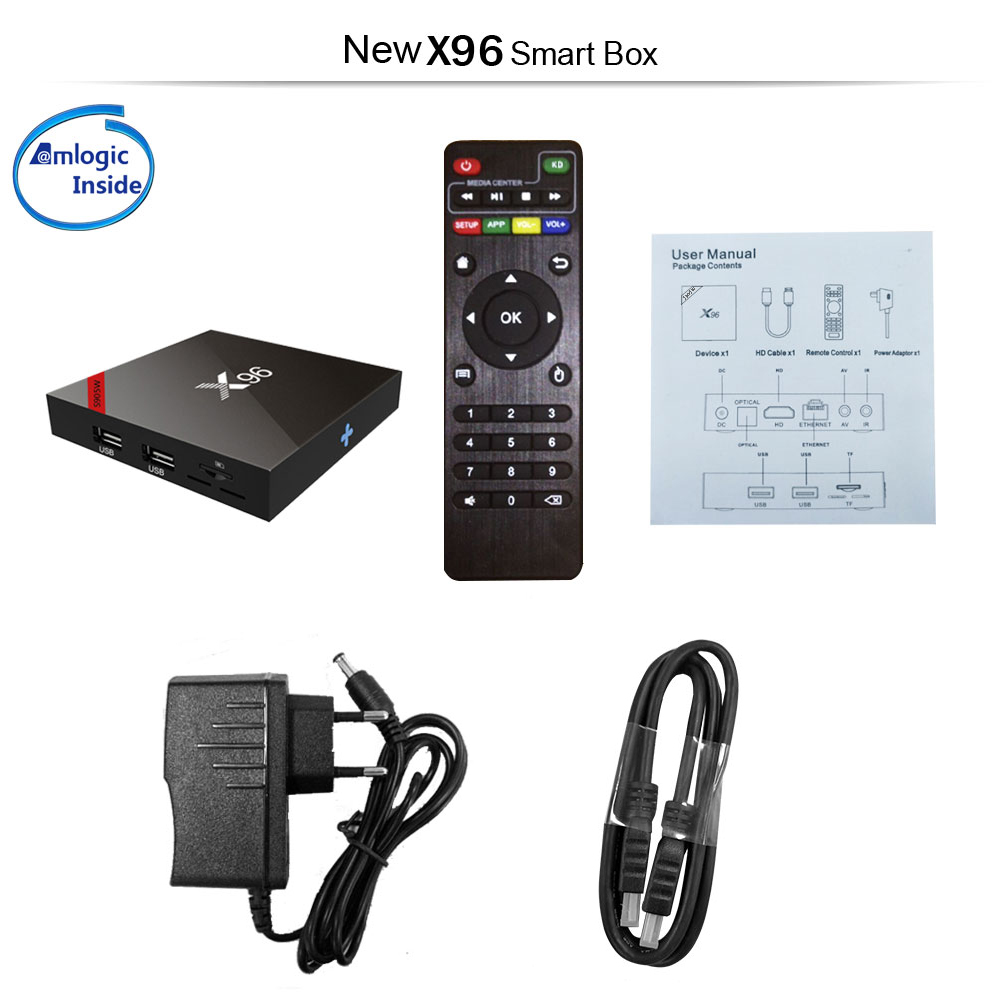 Internet-TV & Media Streamer VONTAR Android 7.1 TV BOX X96 mini Smart Media  WiFi Amlogic S905W Quad Core New TV, Video & Audio raizlatina.com.br