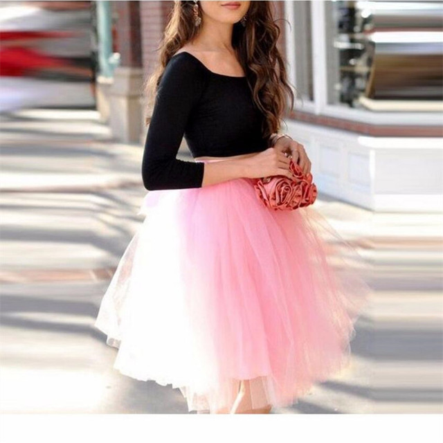 970cb00ec952 New Arrival Cute Light Pink Tulle Skirt Knee Length Skirts Womens Pretty  Adults Skirts fashion custom woman skirt
