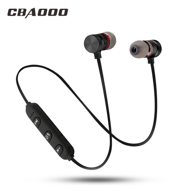 CBAOOO Bluetooth Earphone Wireless Headset Sport Magnetic Waterproof Hifi Bass with Microphone for android iphone xiaomi