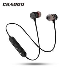 CBAOOO auriculares, inalámbricos por Bluetooth, Auriculares deportivos magnéticos impermeables de bajos Hifi con micrófono para android, iphone y xiaomi