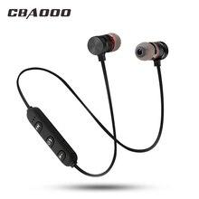 CBAOOO zestaw słuchawkowy Bluetooth bezprzewodowy zestaw słuchawkowy Sport magnetyczny wodoodporny bas Hifi z mikrofonem dla androida iphone xiaomi