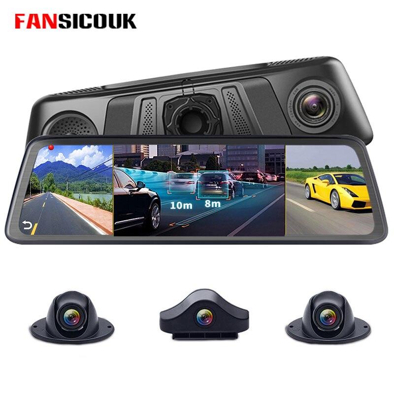 FANSICOUK 4G 4 canaux 8 Core Dash caméra ADAS Android RAM 2GB ROM 32GB 1080P miroir enregistreur voiture DVR caméra magnétoscopes V7
