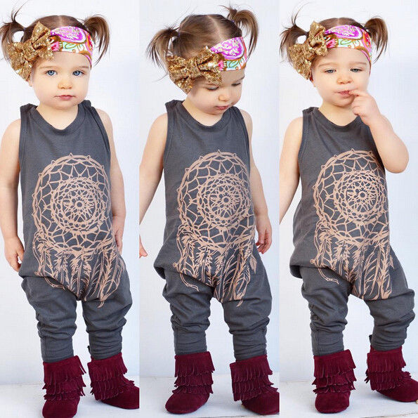 Baby autumn spring clothing set Infant Baby Girls Kids One Piece Romper Jumpsuit Outfit Clothes floral girls rompers 2016 hot selling baby kids girls one piece sleeveless heart dots bib playsuit jumpsuit t shirt pants outfit clothes 2 7y