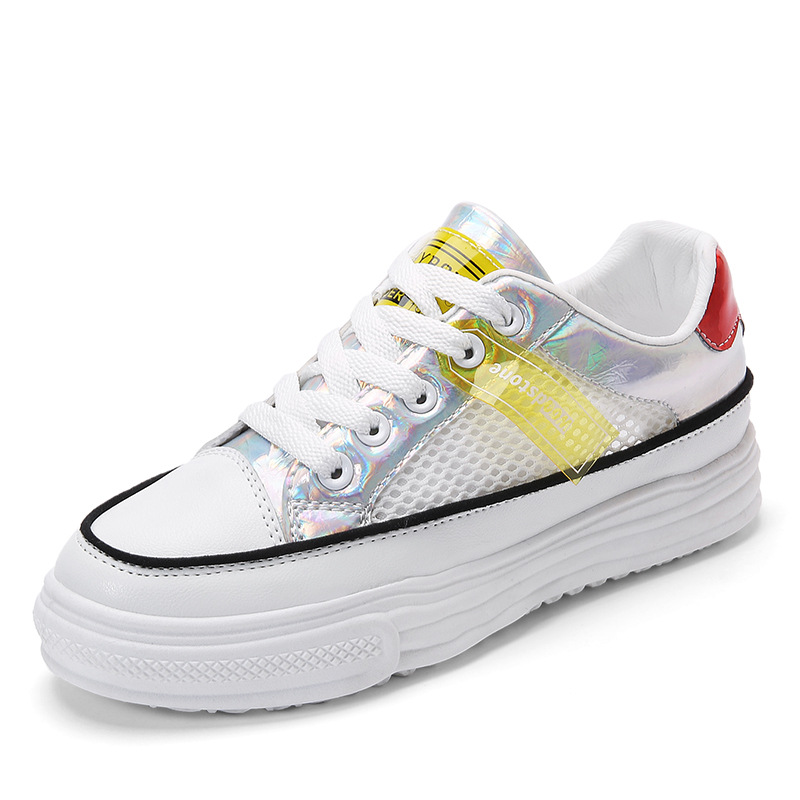 Summer New White Sneakers Shoes Women Female Platform Casual Breathble Vulcanized Shoes