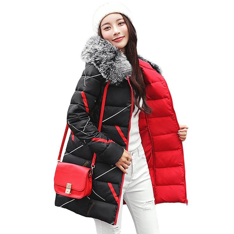 2018 New Fashion Winter Jacket Women Fur Hooded Two Side Wear Cotton
