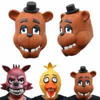 3 Estilo cinco noches en la máscara de fredsyetts Fnaf Foxy Chica Máscara de oso regalo para los niños envío gratis