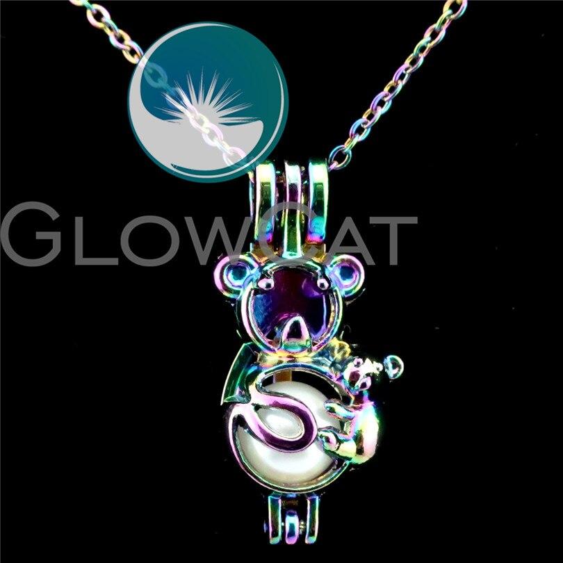 Good Simsimi Koala Birth Stone Women Choker Necklace Stainless Steel Pendant Jewelry Rolo Chains Kolye Female Gift Necklaces 12pcs Sale Price Jewellery & Watches