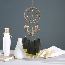 New Fashion Gift India Turquoise Dreamcatcher & Wind Chimes with Feathers Car Pendant Dream Catcher Nordic Style Kids Decoration