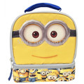 Despicable Me Minions Dual Compartment Thermal Lunch Bag Box Back to Kids Children School Cartoon Thermal Bags for Girls Boys