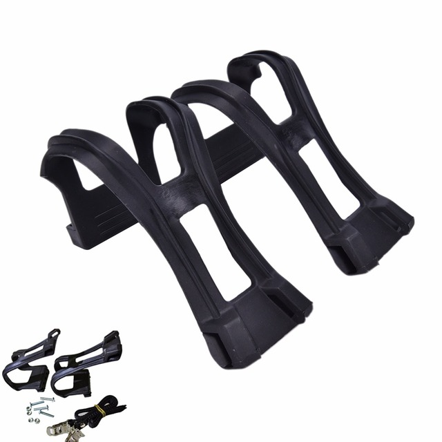 Bike Pedal Clips >> New Plastic Bike Pedal Clips Bicycle Cycling Pedal Toe Straps Foot