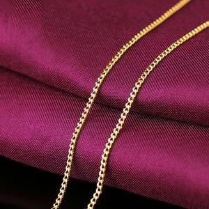 Image 4 - Collier en or pur AU 24K, chaîne en or pur AU 999, ferme, beau, lisse, haut de gamme, tendance, bijou fin, offre spéciale, nouveauté 2020