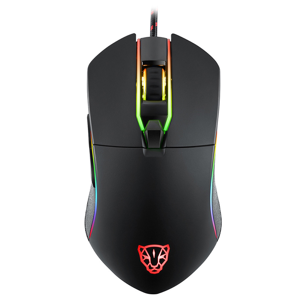 V30 3500 DPI 6 Buttons Breathing LED Optical Wired Gaming Mouse for PC Gamer