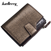 Luxury Brand Mens Wallet With Coin Pocket Microfiber Synthetic Leather Men Wallets High Capacity Purse Men