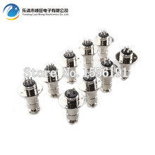 10 sets GX20-6 6Pin With Flange Male Female 20mm Wire Panel Connector DF20 Circular Welding Aviation Plug Socket Air