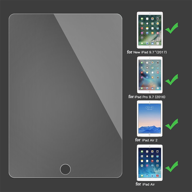 5pcs Clear Explosion Proof Screen Protector For iPad Air 2 Tempered Glass For iPad 2017 ipad Pro 9.7 inch Protective Film