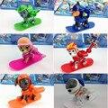 8PCS Russian Cartoon Canine Patrol Puppy Dog Toys Skis Action Figures Doll Model Kids Gift Patrulla Canina Juguetes Xmas Gifts