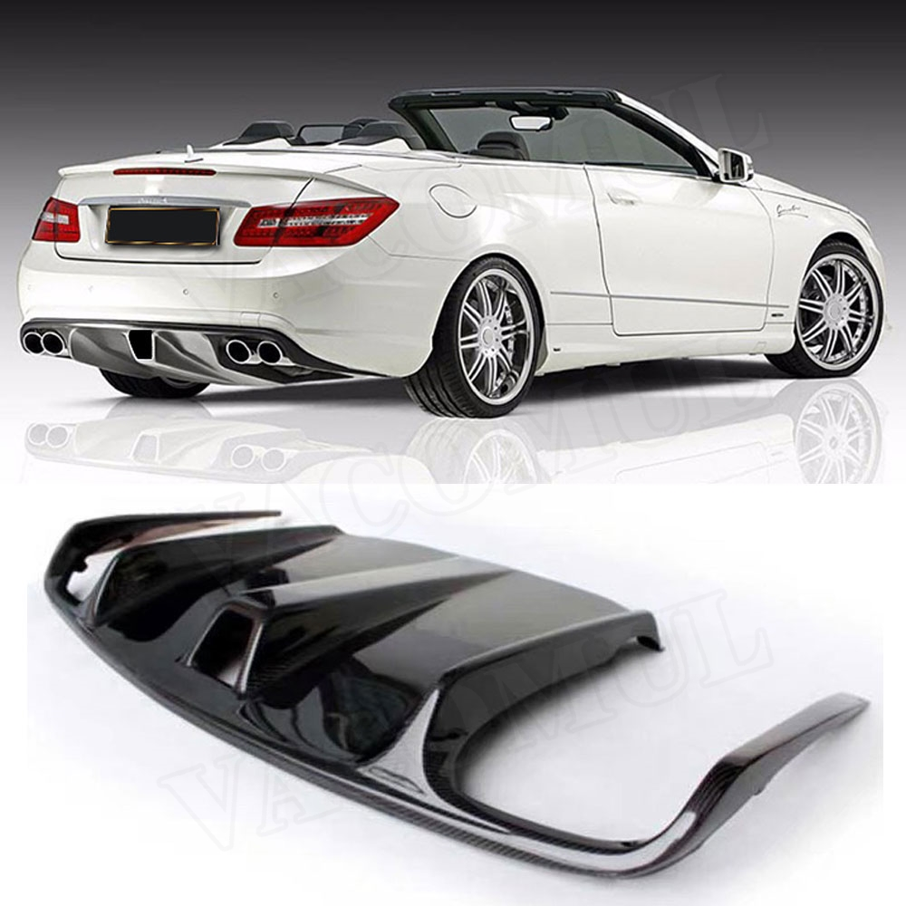 For E Class Carbon Fiber Rear Lip Spoiler Bumper Diffuser Body Kits For Benz W207 C207 <font><b>Coupe</b></font> E260 <font><b>E300</b></font> E350 Sport 2009 - 2012 image