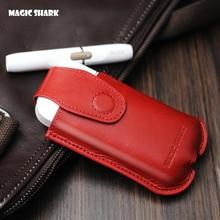 auténtico tiburón mágico funda de cuero genuino para iqos Electronic Cigarette Accessories Carrying funda protectora para iQOS