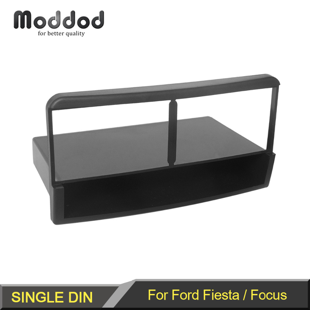 1 Din Stereo Panel for Ford Fiesta Focus Fascia Radio Refitting Dash Mounting Installation Trim Kit Face Frame image