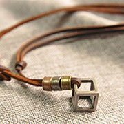Movable-50-73CM-Genuine-Leather-Pendant-Necklace-For-Women-Men-Vintage-Cube-Accessories-Girl-Birthday-Gift