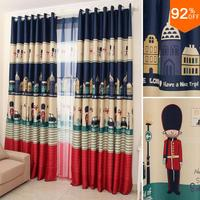 16 Euro Children sweet dream England Toy Soldier Blackout ROYAL GUARD patchwork Kid curtains study Room Curtain Classic bedroom