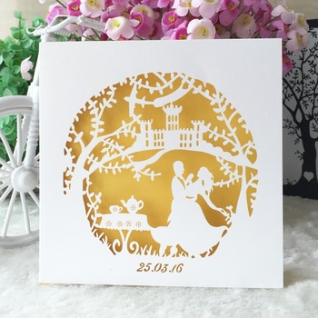 100pcs Vintage Wedding Invitation Cards Laser Cut Romantic  Party Marriage Invitations Greeting Card Kits Event & Party Supplies