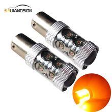 30 W/60 W/80 W Non-polare BAU15S PY21W 1056 1156PY 150 Gradi CREEXB-D LED Arancione auto Segnale di Girata Della Lampada 12-24 V LED Auto Fonte di Luce