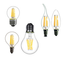 LED Edison Light E14 LED E27 Bulbs A60 C35 G45 vintage lamp 2W 4W 6W 8W bulb 220v LED lamp E14 Globe decorative Filament E27(China)